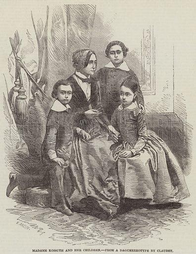 Madame Kossuth and her Children. Illustration for The Illustrated London News, 15 November 1851.