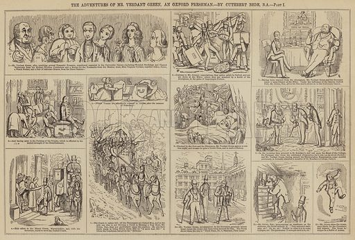 The Adventures of Mr Verdant Green, an Oxford Freshman. Illustration for The Illustrated London News, 13 December 1851.