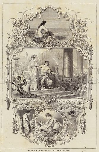 Adonis and Adona. Illustration for The Illustrated London News, 20 December 1851.