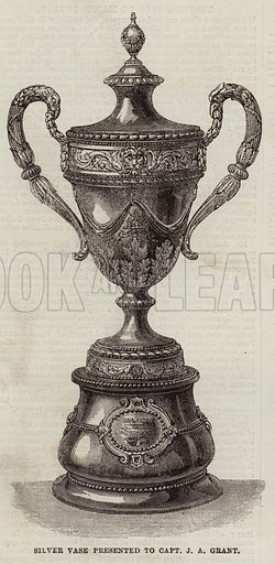 Silver Vase presented to Captain J A Grant. Illustration for The Illustrated London News, 19 September 1863.