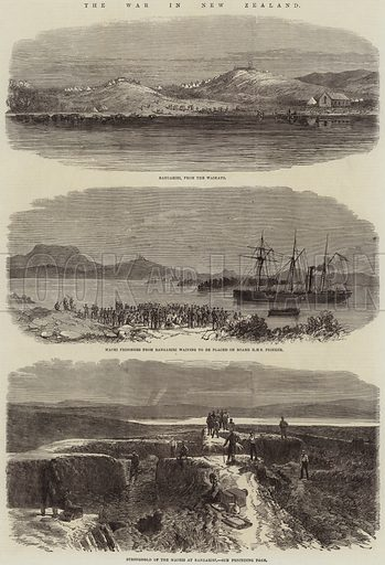 The War in New Zealand. Illustration for The Illustrated London News, 27 February 1864.