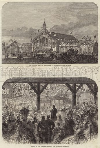 The Yorkshire Fine-Art and Industrial Exhibition. Illustration for The Illustrated London News, 4 August 1866.