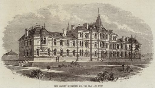 The Glasgow Institution for the Deaf and Dumb. Illustration for The Illustrated London News, 23 January 1869.