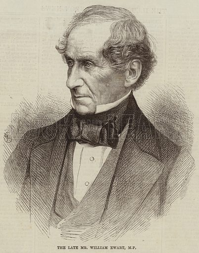 The Late Mr William Ewart, MP. Illustration for The Illustrated London News, 6 March 1869.