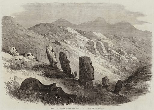 Group of Images inside the Crater of Otuiti, Easter Island