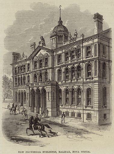 New Provincial Buildings, Halifax, Nova Scotia. Illustration for The Illustrated London News, 25 September 1869.