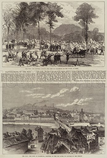 Franco-Prussian War. Illustration for The Illustrated London News, 13 August 1870.