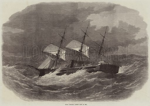 HMS Captain, lately lost at Sea. Illustration for The Illustrated London News, 24 September 1870.