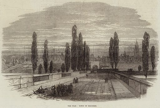 The War, Town of Mezieres. Illustration for The Illustrated London News, 8 October 1870.