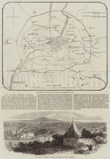 Franco-Prussian War. Illustration for The Illustrated London News, 29 October 1870.