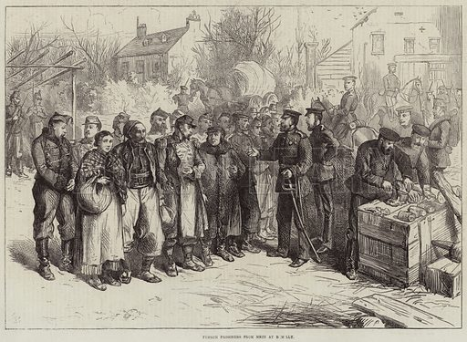 French Prisoners from Metz at Remilly. Illustration for The Illustrated London News, 5 November 1870.