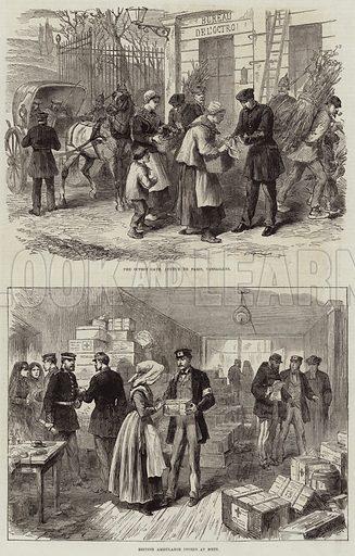 Franco-Prussian War. Illustration for The Illustrated London News, 10 December 1870.