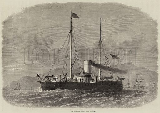 Our Ironclad Fleet, HMS Hotspur. Illustration for The Illustrated London News, 21 January 1871.