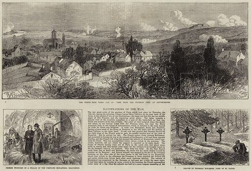 Illustrations of the War. Illustration for The Illustrated London News, 11 February 1871.