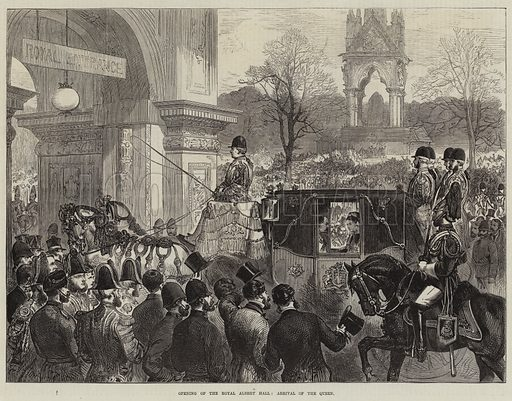 Opening of the Royal Albert Hall, Arrival of the Queen. Illustration for The Illustrated London News, 8 April 1871.