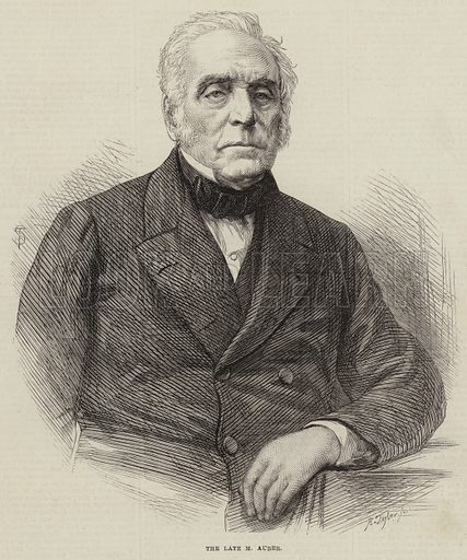 The Late M Auber. Illustration for The Illustrated London News, 27 May 1871.