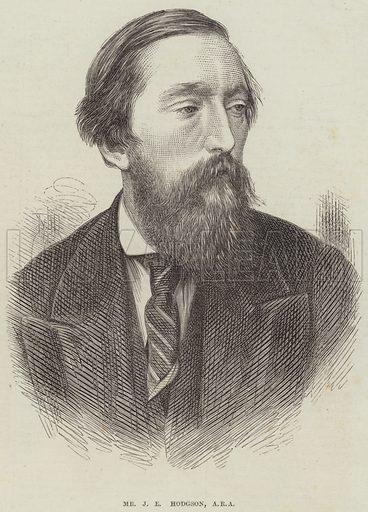 Mr J E Hodgson, ARA. Illustration for The Illustrated London News, 22 February 1873.
