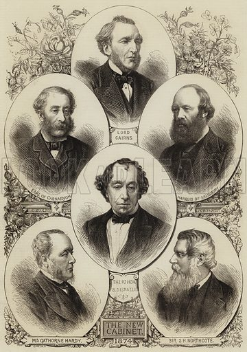 The New Cabinet. Illustration for The Illustrated London News, 18 April 1874.