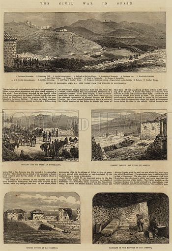 The Civil War in Spain. Illustration for The Illustrated London News, 23 May 1874.