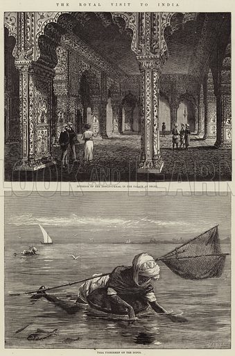 The Royal Visit to India. Illustration for The Illustrated London News, 19 February 1876.