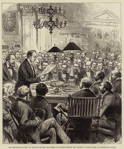 Schliemann, picture, image, illustration
