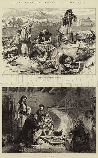 Our Special Artist in Greece. Illustration for The Illustrated London News, 21 April 1877.