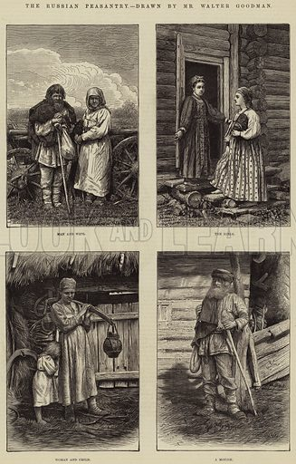 The Russian Peasantry. Illustration for The Illustrated London News, 28 April 1877.