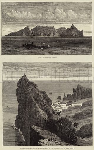 Sketches of Pitcairn Island. Illustration for The Illustrated London News, 15 February 1879.