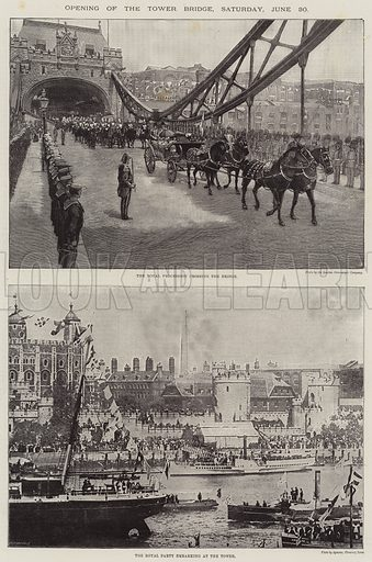 Opening of the Tower Bridge, Saturday, 30 June. Illustration for The Illustrated London News, 7 July 1894.