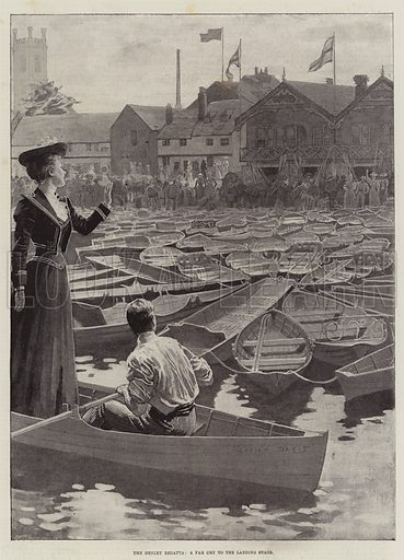 The Henley Regatta, a Far Cry to the Landing Stage. Illustration for The Illustrated London News, 7 July 1894.