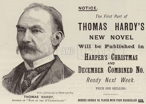 Advertisement, Thomas Hardy. Illustration for The Illustrated London News, 17 November 1894.