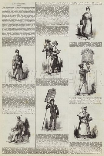 London Charities. Illustration for The Illustrated London News, 28 May 1842.