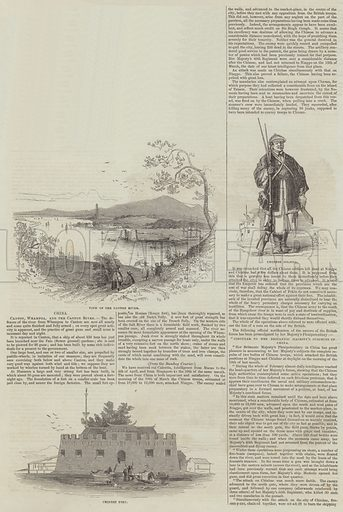 Sketches of China. Illustration for The Illustrated London News, 9 July 1842.