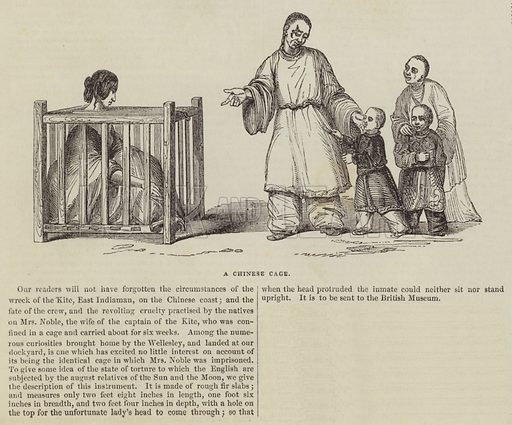 A Chinese Cage. Illustration for The Illustrated London News, 13 August 1842.