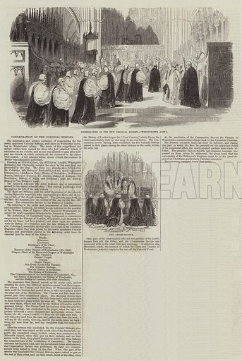 Consecration of the Colonial Bishops. Illustration for The Illustrated London News, 27 August 1842.