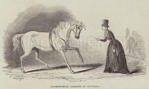 Mademoiselle Caroline at Vauxhall. Illustration for The Illustrated London News, 27 August 1842.