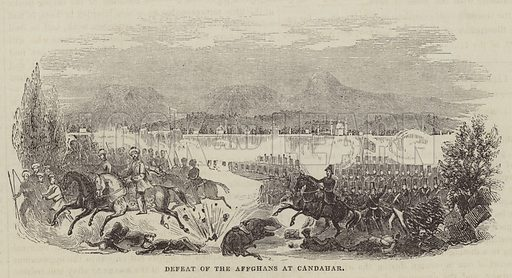 Defeat of the Affghans at Candahar. Illustration for The Illustrated London News, 10 September 1842.
