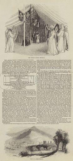 The Abergavenny Cymreigyddion Society. Illustration for The Illustrated London News, 22 October 1842.