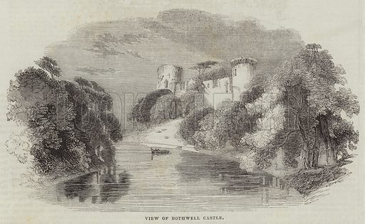View of Bothwell Castle. Illustration for The Illustrated London News, 29 October 1842.
