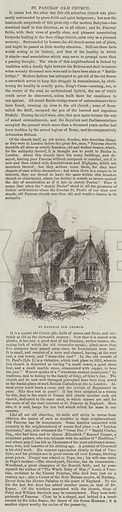 St Pancras' Old Church. Illustration for The Illustrated London News, 29 October 1842.