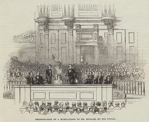 Presentation of a Music-Stand to Mr Hullah, by his Pupils. Illustration for The Illustrated London News, 19 November 1842.