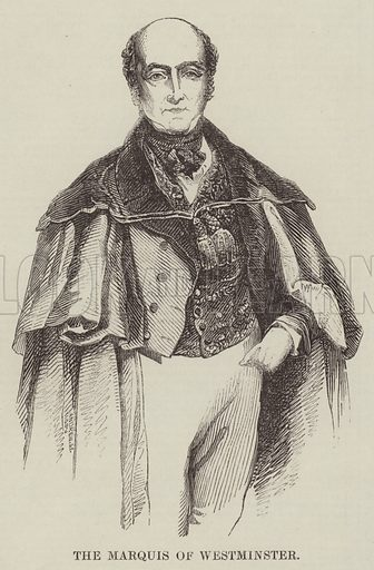 The Marquis of Westminster. Illustration for The Illustrated London News, 17 December 1842.