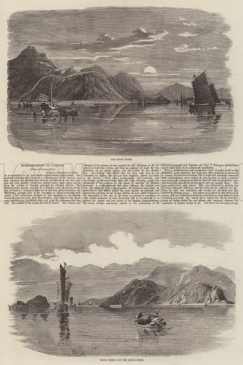 Bombardment of Canton. Illustration for The Illustrated London News, 10 January 1857.