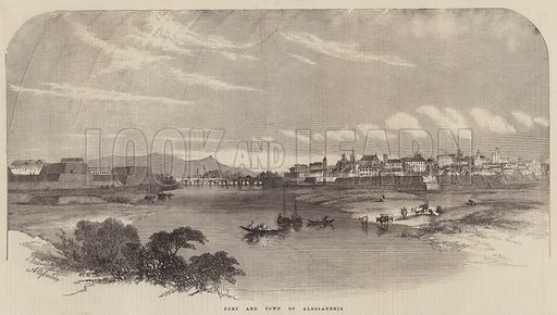Fort and Town of Alessandria. Illustration for The Illustrated London News, 17 January 1857.