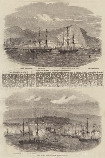 The Movement in Peru. Illustration for The Illustrated London News, 24 January 1857.