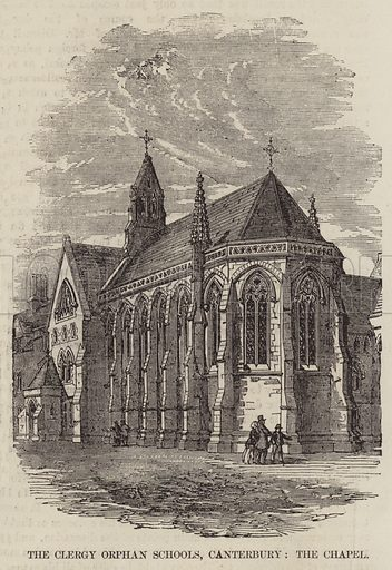 The Clergy Orphan Schools, Canterbury, the Chapel. Illustration for The Illustrated London News, 7 February 1857.