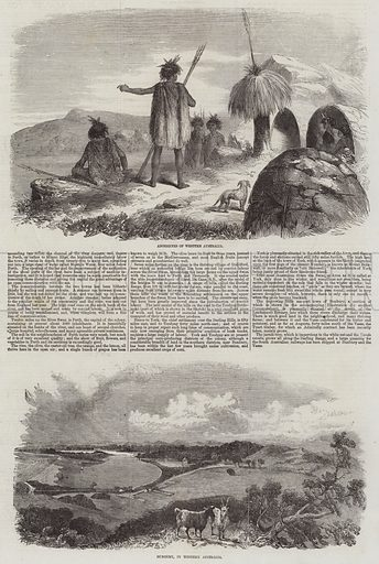 Sketches of Australia. Illustration for The Illustrated London News, 28 February 1857.