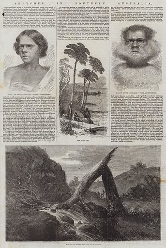 Sketches in Southern Australia. Illustration for The Illustrated London News, 21 March 1857.