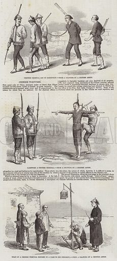 Chinese Tortures. Illustration for The Illustrated London News, 4 April 1857.