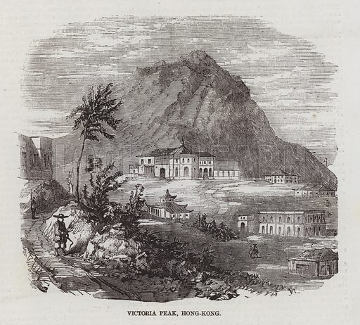 Victoria Peak, Hong Kong.  Sketches in Hong Kong. Illustration for The Illustrated London News, 11 April 1857.